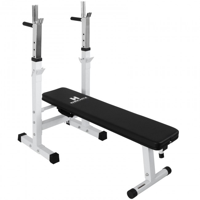 Weight Bench And Dip Station White Hardcastle Bodybuilding